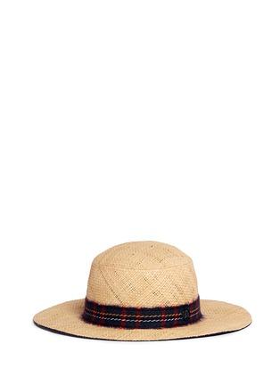 Main View - Click To Enlarge - Maison Michel - 'Gabriel' round garden straw hat
