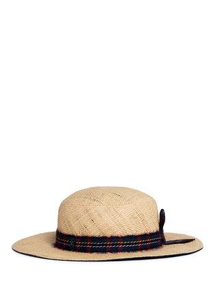 Figure View - Click To Enlarge - Maison Michel - 'Gabriel' round garden straw hat