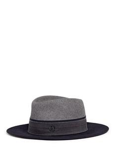 Maison Michel'Thadee' colourblock rabbit furfelt fedora hat