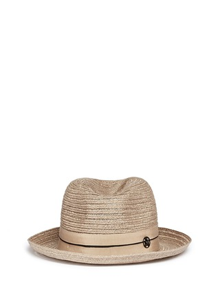 Main View - Click To Enlarge - Maison Michel - 'Joseph' canapa straw fedora hat