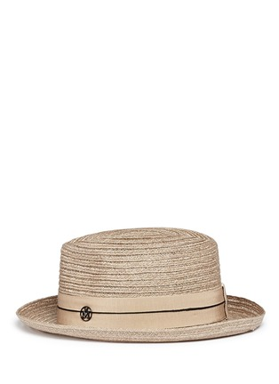 Figure View - Click To Enlarge - Maison Michel - 'Joseph' canapa straw fedora hat