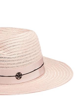 细节 - 点击放大 - MAISON MICHEL - Virginie编织稻草宽檐帽