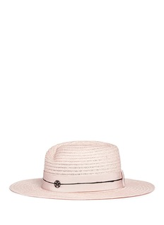 Maison Michel'Virginie' petersham band canapa straw hat