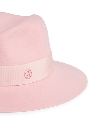 Detail View - Click To Enlarge - Maison Michel - 'Henrietta' swirl rabbit furfelt fedora hat