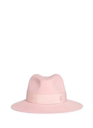 Maison Michel-'Henrietta' swirl rabbit furfelt fedora hat