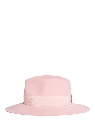Figure View - Click To Enlarge - Maison Michel - 'Henrietta' swirl rabbit furfelt fedora hat