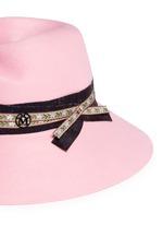 'Rose' floral ribbon hare furfelt hat