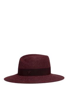 Maison Michel'Virginie' grosgrain band rabbit furfelt hat