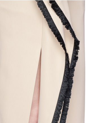 Detail View - Click To Enlarge - C/Meo Collective  - 'Game Changer' fringe drape skirt