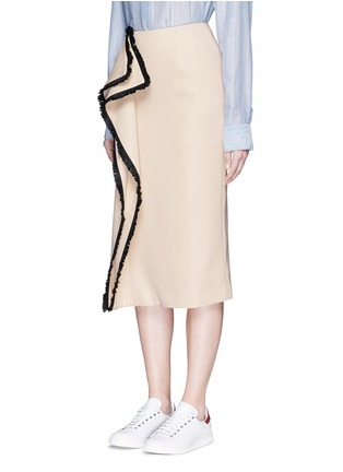 Front View - Click To Enlarge - C/Meo Collective  - 'Game Changer' fringe drape skirt