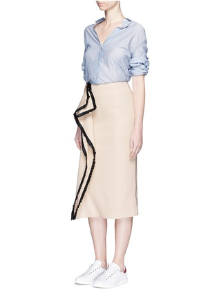 Figure View - Click To Enlarge - C/Meo Collective  - 'Game Changer' fringe drape skirt