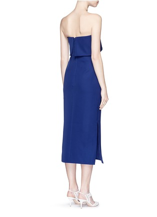 Back View - Click To Enlarge - C/Meo Collective  - 'Need To Know' drape strapless dress