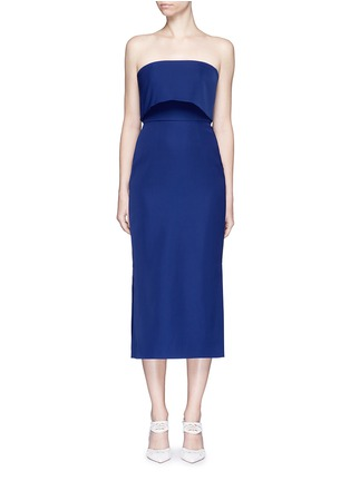 Main View - Click To Enlarge - C/Meo Collective  - 'Need To Know' drape strapless dress