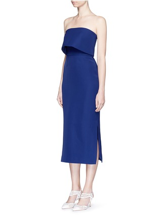 Figure View - Click To Enlarge - C/Meo Collective  - 'Need To Know' drape strapless dress