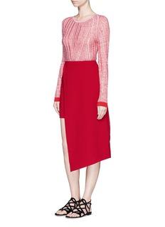 C/MEO COLLECTIVE 'Same Road' asymmetric hem skirt