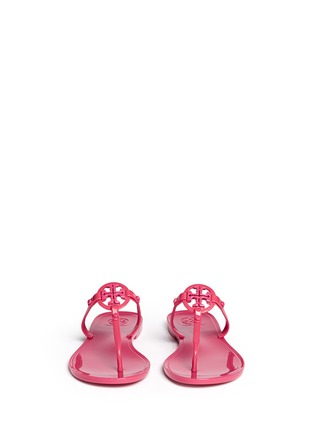 Front View - Click To Enlarge - Tory Burch - ''Colori' logo jelly thong sandals