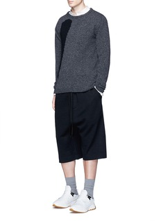 Song for the Mute Drawstring waist wool bucket shorts