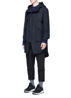 Song for the Mute Pinstripe cotton-wool cocoon parka
