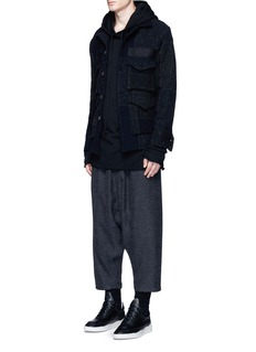 Song for the Mute Check pocket wool shirt jacket