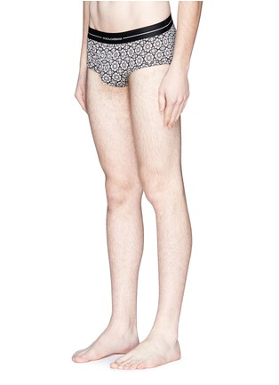 Figure View - Click To Enlarge - Dolce & Gabbana - 'Brando' tile print cotton briefs