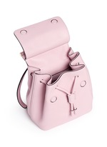 'Miss Sicily' small grainy leather backpack