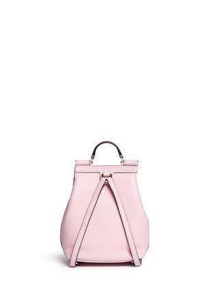 Back View - Click To Enlarge - Dolce & Gabbana - 'Miss Sicily' small grainy leather backpack