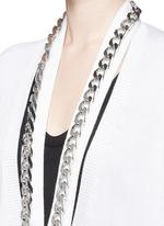Chain cutout oversize cashmere-silk cardigan