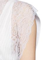 Silk crepe de Chine panel lace dress vest