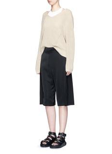 ACNE STUDIOS'Caryn Combo' foldover pleat shorts