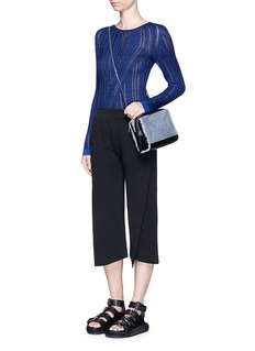ACNE STUDIOS'Elly' folded front panel French terry pants
