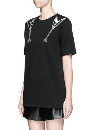Front View - Click To Enlarge - Acne Studios - 'Eris' guitar patch appliqué T-shirt