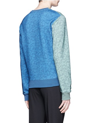 Back View - Click To Enlarge - CARVEN - Logo stripe print sweatshirt