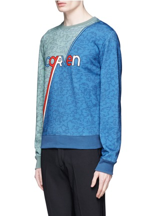 Front View - Click To Enlarge - CARVEN - Logo stripe print sweatshirt