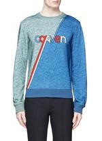 Logo stripe print sweatshirt