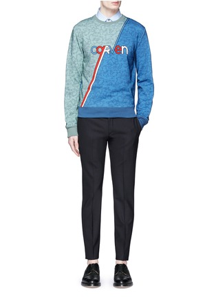 Figure View - Click To Enlarge - CARVEN - Logo stripe print sweatshirt