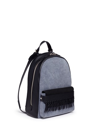 Front View - Click To Enlarge - 3.1 Phillip Lim - 'Bianca' mini fringe pocket leather backpack