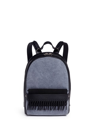 Main View - Click To Enlarge - 3.1 Phillip Lim - 'Bianca' mini fringe pocket leather backpack