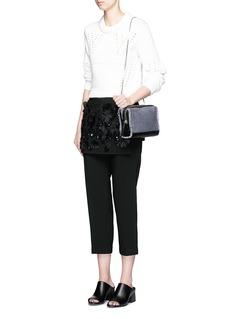 3.1 PHILLIP LIM'Soleil' mini leather trim denim crossbody zip bag