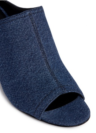 Detail View - Click To Enlarge - 3.1 Phillip Lim - Open toe denim mules