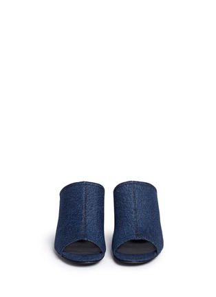Front View - Click To Enlarge - 3.1 Phillip Lim - Open toe denim mules