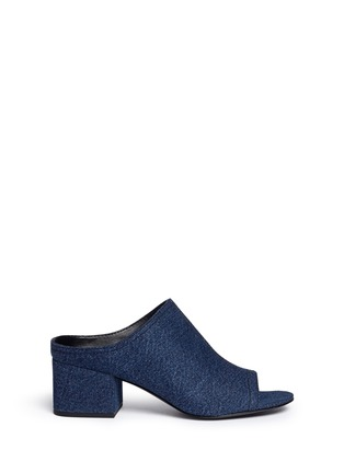 Main View - Click To Enlarge - 3.1 Phillip Lim - Open toe denim mules