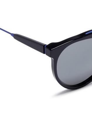 Detail View - Click To Enlarge - SUPER - 'Giaguaro B2B' metal bridge acetate sunglasses