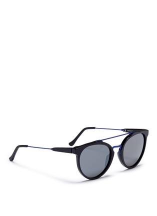 Figure View - Click To Enlarge - SUPER - 'Giaguaro B2B' metal bridge acetate sunglasses