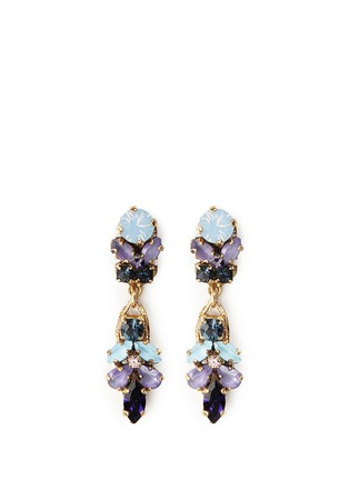 Main View - Click To Enlarge - Erickson Beamon - 'I Do' leaf stone drop earrings