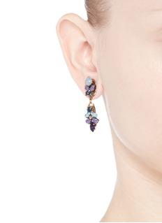 ERICKSON BEAMON'I Do' leaf stone drop earrings