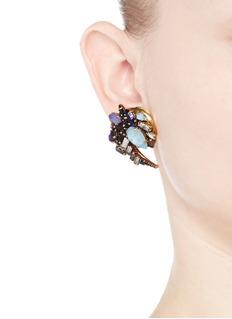 ERICKSON BEAMON'Lady of the Lake' Swarovski crystal swirl earrings