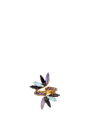 Main View - Click To Enlarge - Erickson Beamon - 'Lady of the Lake' Swarovski crystal swirl ring