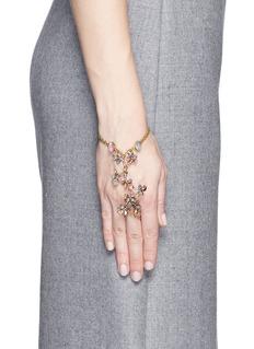 ERICKSON BEAMON'Botanical Garden' Swarovski crystal floral chain bracelet
