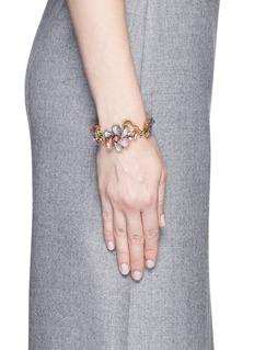 ERICKSON BEAMON'Botanical Garden' Swarovski crystal floral bracelet