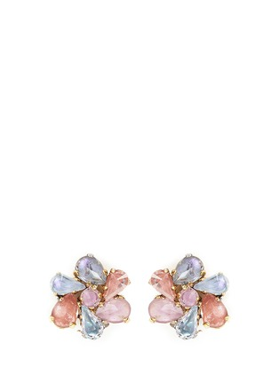 Main View - Click To Enlarge - Erickson Beamon - 'Botanical Garden' Swarovski crystal floral earrings